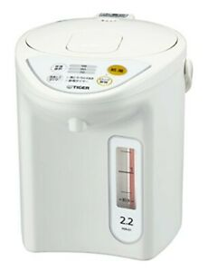 Tiger thermos microcomputer electric pot 2.2L white PDR-G221-W AC100V from japan