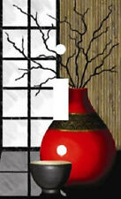RED ASIAN VASE MODERN ART LIGHT SWITCH PLATE COVER HOME DECOR