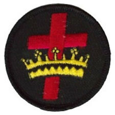 CROSS CROWN IRON-ON PATCH