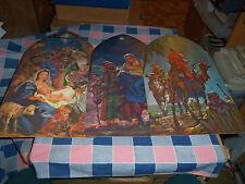 Set 3 Vintage Dennison Nativity Cut-Outs  Each 16 1/8 Inches High