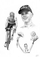 CHRIS FROOME Tour De France 2013 Winner Yellow Jersey Limited Edition Art Print