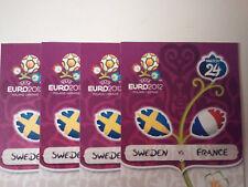 EURO 2012 GROUP D SWEDEN vs FRANCE, 4 TICKETS CATEGORY 3, JUNE 19, 2012