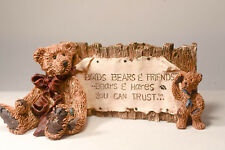 Boyds Bears: Bear Signage with Plaque - Style 2099 - Bears & Hares You Can Trust