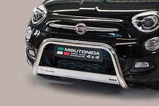 PROTEZIONE ANTERIORE MEDIUM BULL BAR OMOLOG. INOX D.63 PER FIAT 500 X 2015  .
