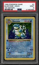 Pokemon Base Set 1st edición sin sombra Blastoise 2/102 Profesional autenticador de deportes 9