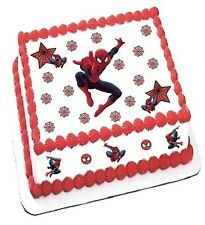 "SPIDERMAN edible decoration set toppers for 7.5"" cake"