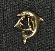14k Yellow Gold Dolphin Pendant - Gently Used - J-100A