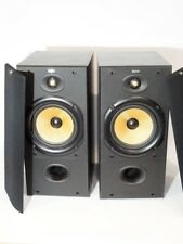 Pair Of B&W Bowers & Wilkins DM 602 Black Main Bookshelf Loud Speakers y721