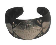 Horn Silver And Ebony Large African Tuareg Bracelet Bangle