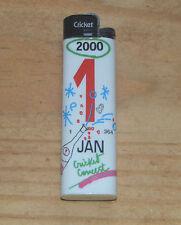 Briquet Cricket, motif édition spéciale année 2000, ne fonctionne plus
