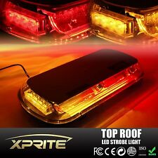 44 LED 44W Roof Top Emergency Hazard Warning Flash Strobe Light Red Amber