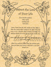 Attract the Love of Your Life, Book of Shadows Spell Page, Wicca, Witchcraft