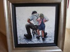 More details for keith proctor 'young at heart' original stretched canvas framed