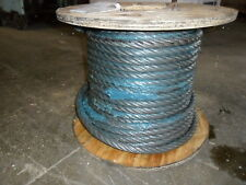"""7/8"""" X 125' Iwrc Wire Rope Cable Spool 6X36 W/ Spelter Crane Cable Rigging"""