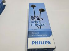 Philips Wired Earbuds Earphones, in Ear Headphones, Bass Clear Sound, Black