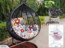 New Outdoor/Indoor Wicker Rattan Hanging Swing Egg Basket Chair w