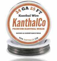 KanthalCo Kanthal Wire 24 Gauge AWG A1 25ft Roll 0.51mm 2.04 ohms/ft. Resistance