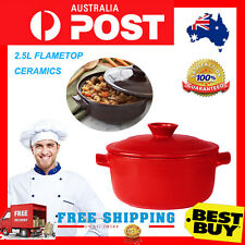 P&P*COOKWARE*20cm*Ceramic*CASSEROLE*Pot*Pan*HEAT*2.5L*OZ Stock