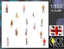 50 pcs Painted figures Model Train Layout Building Architecture N Scale 1:150