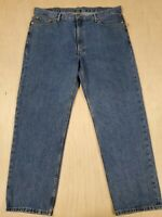 ■603 Levi's 550 Denim Jeans Mens 42x32 Blue Straight Leg Relaxed Medium Washed