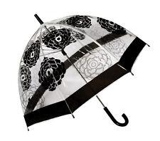 Cabbage Rose Clear Dome POE Umbrella - Birdcage, Fashion, Dance, Bulk Lot of 10