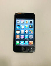 Apple iPod Touch 4th Generation 8GB Black Fair Condition Screen Crack Usable i7