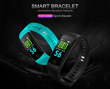 Smart band Colour Screen Heart Rate Monitor Activity Fitness Tracker Black
