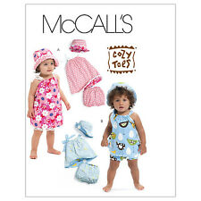 McCall's 6058 OOP Sewing Pattern to MAKE Reversible Hat Dress Panties 6-12 mths