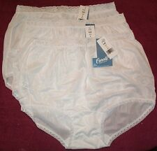 3 Pair WHITE Lace Elastic 100% Nylon Panties Size 11 Carole Panty USA Made