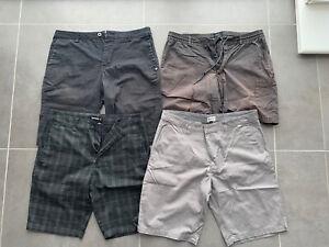 4x Mens Shorts Bundle. 32 Inch. RVCA, Quiksilver, Matix & DC. RRP £185.