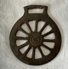 Vintage / Antique Horse Brass Spoked Wagon or Carriage Wheel Design