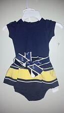 Girls Ralph Lauren Dress  with Nautical Belt size 3 months Navy & Yellow