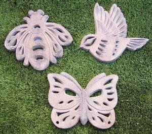 """Garden Path Walkway Stepping Stone Bird and Butterflies Set of 3  NEW 10"""""""