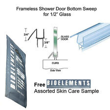 """Shower Door Bottom Seal with Drip Rail for 1/2"""" Glass - 31"""" long w/ Bioelements"""