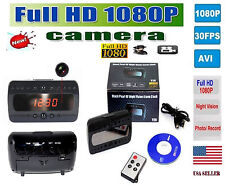 HD 1080P Spy Alarm Clock Camera Video Cam Motion Detection Digital DVR Remote