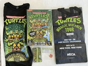 Nickelodeon 2020 NECA TMNT Musical Mutagen Tour box LARGE T-shirt Bag Ticket LG