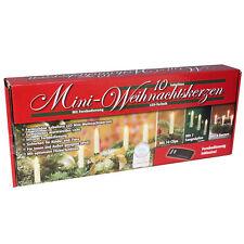 10 kabellose LED Weihnachtskerzen + Fernbedienung Christbaumkerzen Kerzen