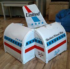 Vintage Mattel Barbie Doll United Airlines Friend Ship Airplane 1972 EUC!!!
