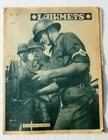 WW2 German Ost Magazine Laikmets Lettland 1944/37 Wehrmacht soldier Comb.ship!!!