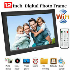 12'' WIFI Digital Photo Album Frame Video Music Player with Remote Control New H