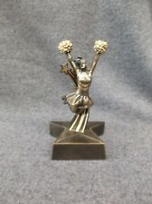 Rst306 Cheerleading statue trophy resin gold star base small