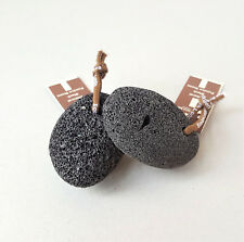 Black Pumice Stone with Hanging Rope, Volcanic Natural Exfoliator