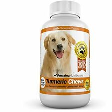 Amazing Turmeric For Dogs Curcumin Pet Antioxidant, Eliminates Joint Pain 120