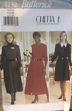 Butterick 4232 Pattern Chetta B Misses'/Petite Slightly Flared Dress Sz 6, 8, 10