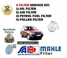 FOR FORD MAVERICK 3.0i V6 2001-2004 NEW SERVICE OIL AIR FUEL POLLEN FILTER KIT
