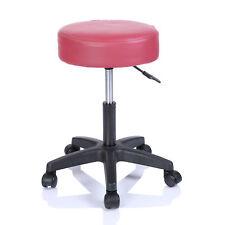 Taburete con ruedas altura regulable salón de belleza cosmética masaje burdeos