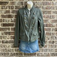 Maurices Women's Long Sleeves Light Weight Jacket Military Style Green Size S