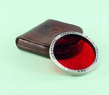 Bay III (3) Original Rolleiflex Filter - Light Red - in Leather Case