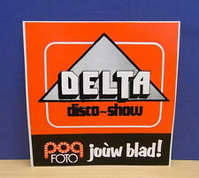 1x Sticker - Decal POP Foto / Delta disco-show with org.back 70/80's (1890)