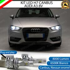 KIT FULL LED LAMPADE H7 6500K BIANCO 8000 LM XENON CANBUS AUDI A3 8V